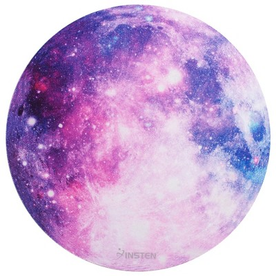 "Insten Round Mouse Pad Galaxy Space Planet Moon Design Super Smooth Mousepad - Purple Nebula Space (8.4"" x 8.4"")"