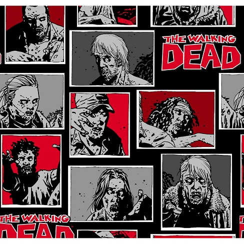 "The Walking Dead, Black, 100% Cotton, 43/44"" Width, Fabric by the Yard - image 1 of 1"