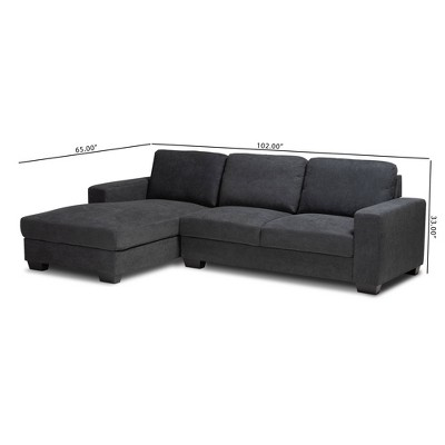 Nevin Sectional Sofa With Chaise - Baxton Studio : Target