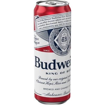 Budweiser Lager Beer - 25 fl oz Can