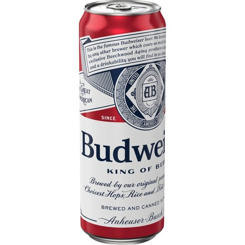 Budweiser Lager Beer - 25 fl oz Can - image 1 of 1