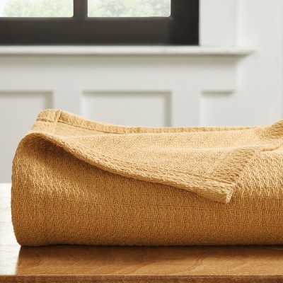 Waffle Woven Textured Cotton Blanket - Blue Nile Mills