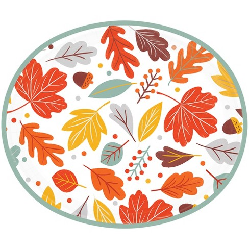 "12""x10"" 20ct Floral Disposable Oval Plate - Spritz™ - image 1 of 1"