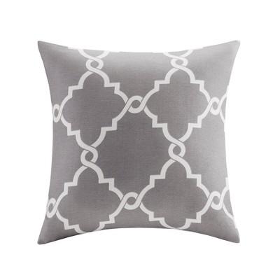 Grey Sereno Fretwork Print Throw Pillow (20 x20 )
