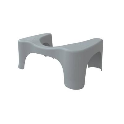 7  Curve Toilet Stool Gray - Squatty Potty
