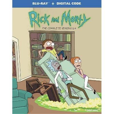 Rick & Morty: Seasons 1-4 (Blu-ray + Digital)(2021)