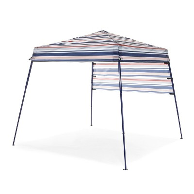 SlumberTrek 3049370VMI Tropez Outdoor Portable Beach Gazebo Shelter with Carrying Case, Red, White, and Blue