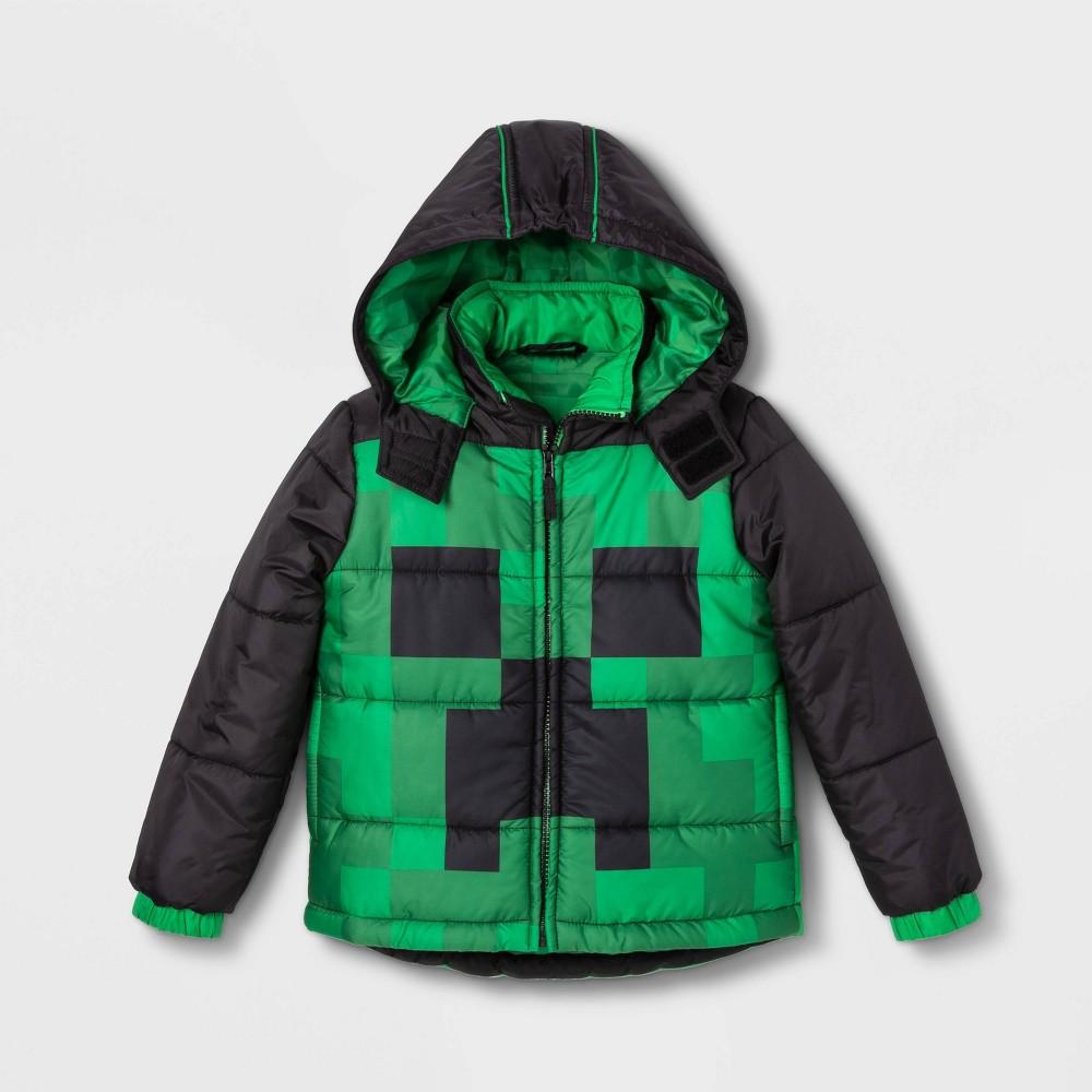 Boys' Minecraft Puffer Jacket - Green 4, Boy's