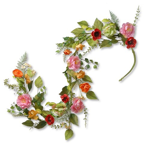 """60"""" x 8"""" Spring Flower Garland - National Tree Company - image 1 of 1"""