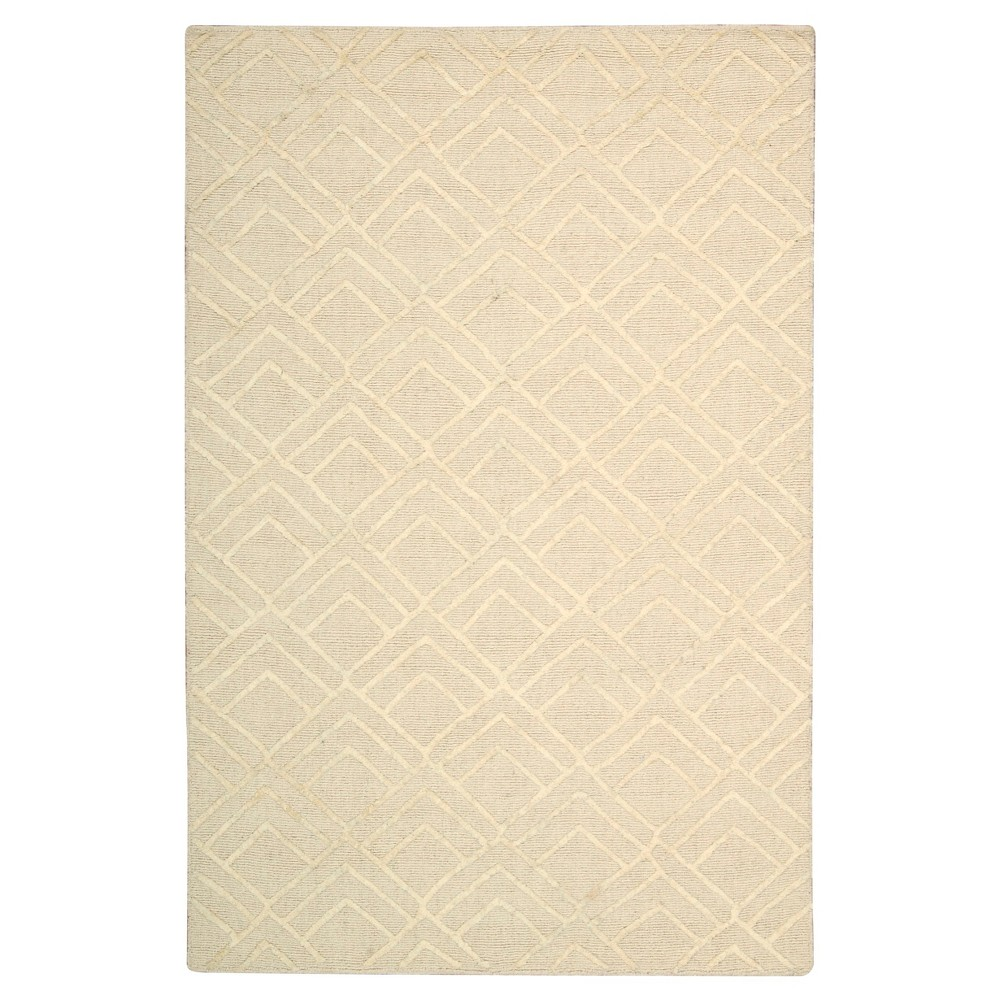 Nourison Geometric Strata Accent Rug - Ivory (4'X6')