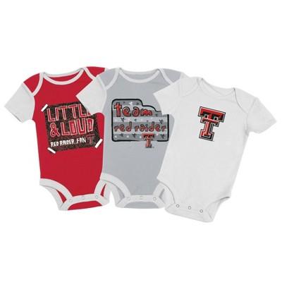 NCAA Texas Tech Red Raiders Baby Boys' 3pc Bodysuit Set
