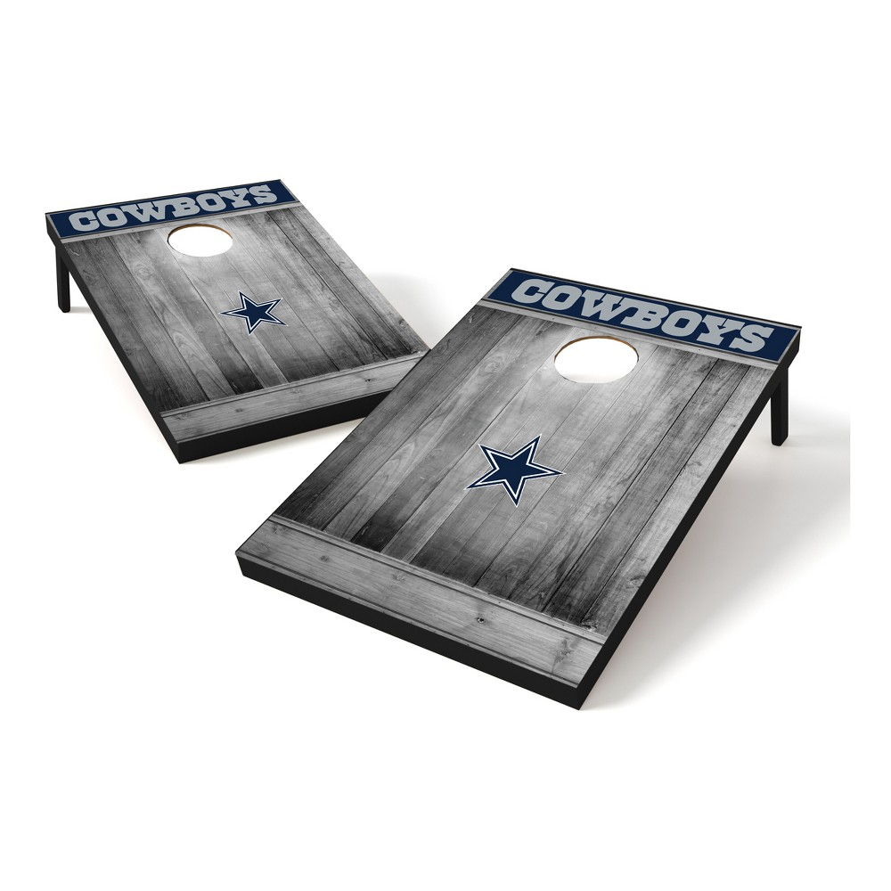 Dallas Cowboys Wild Sports 2x3 Rustic Wooden Plaque Gray Wash Tailgate Toss
