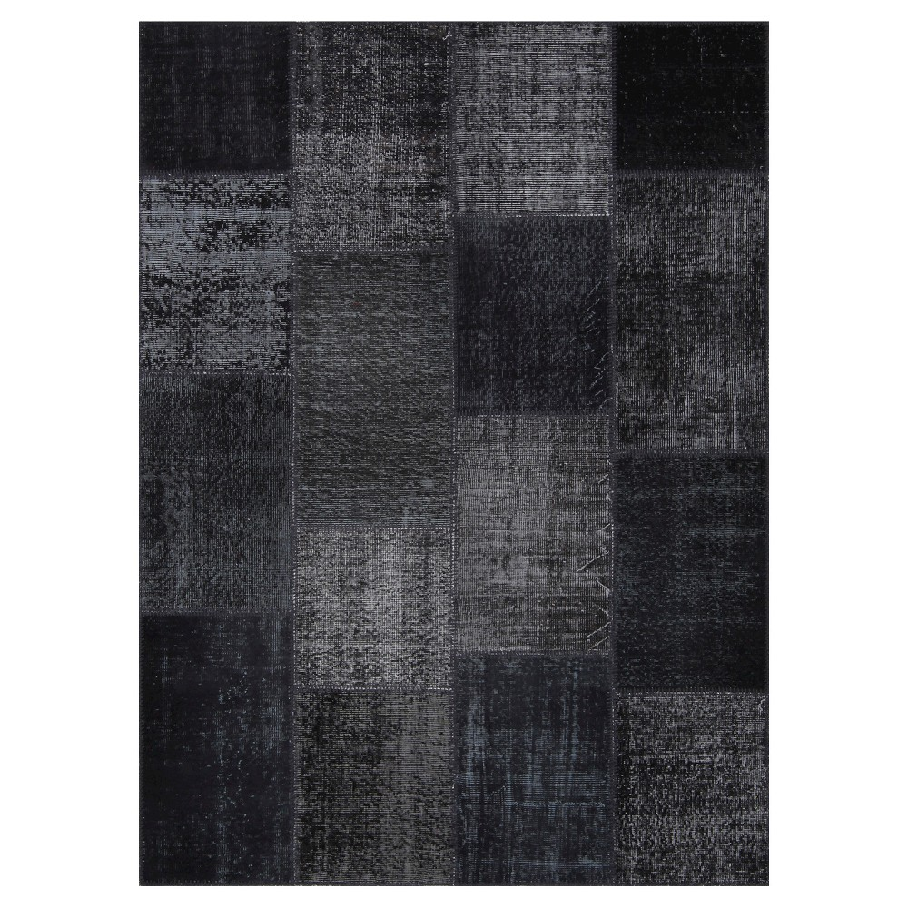 Antique Patchwork Area Rug Coal 5'3