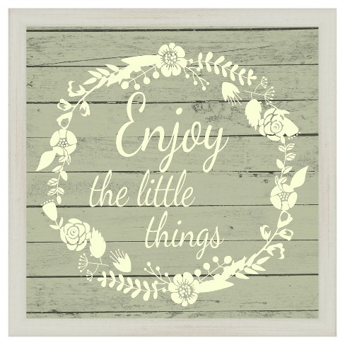 Enjoy The Little Things 18X18 Wall Art - image 1 of 1