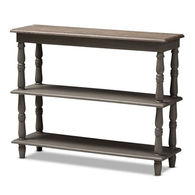Nellie Country Cottage Farmhouse Weathered Finished Wood Console Table Brown - Baxton Studio