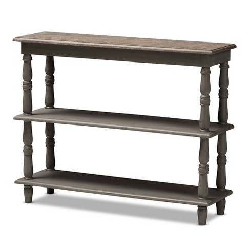 Nellie Country Cottage Farmhouse Weathered Finished Wood Console Table Brown - Baxton Studio - image 1 of 4