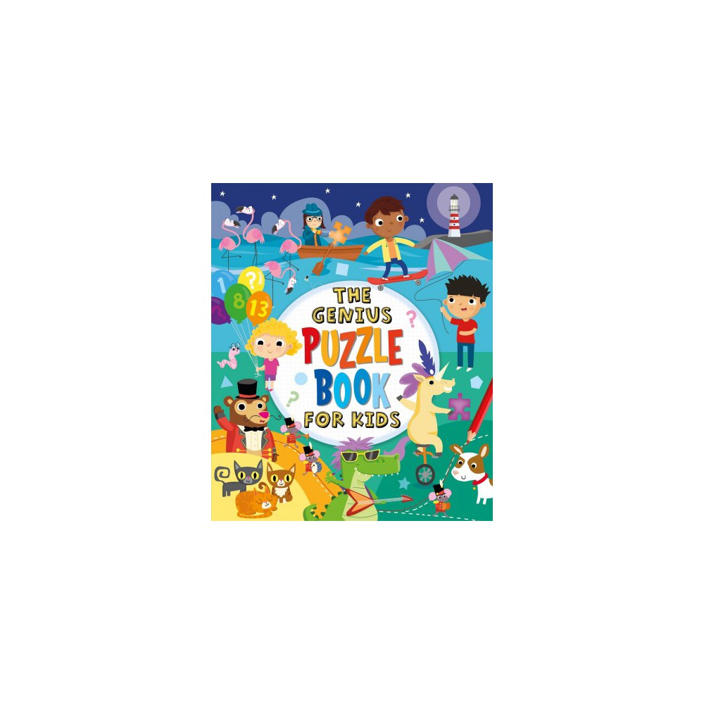 Genius Puzzle Book for Kids - by Kate Overy & Lisa Regan (Paperback)