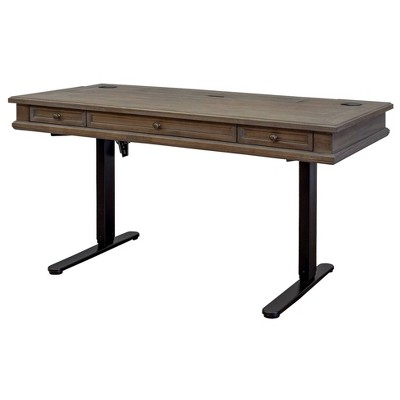 Carson Electric Sit/Stand Desk Brown - Martin Furniture