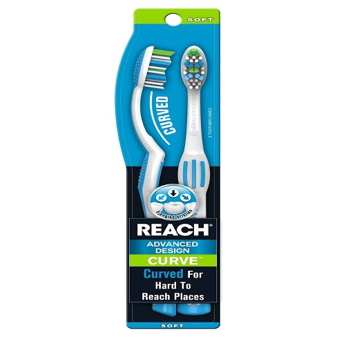 Reach Advanced Design Curve Manual Toothbrush - 2ct - image 1 of 1