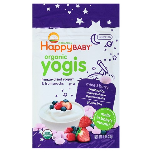 Happy Yogis Mixed Berry Organic Yogurt & Fruit Snacks - 1oz - image 1 of 4