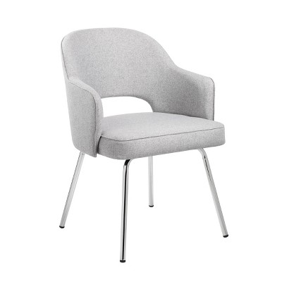 Guest Chair Gray Linen - Boss Office Products