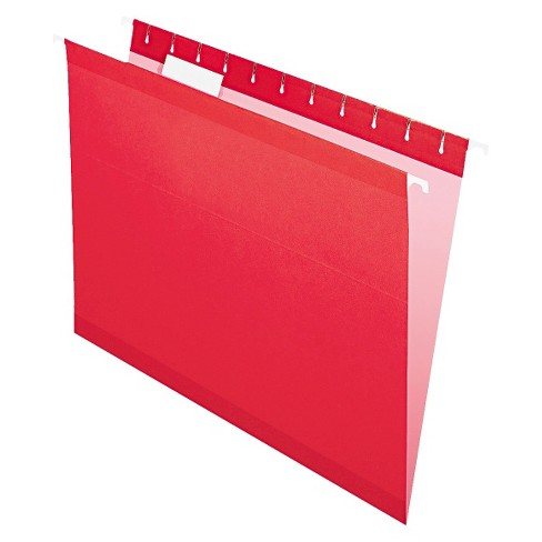 Pendaflex Reinforced Hanging File Folders with 1/5 Tab, Letter - Red (25 Per Box) - image 1 of 2