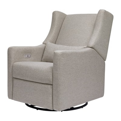 Babyletto Kiwi Glider Recliner with Electronic Control and USB, Greenguard Gold Certified - Performance Gray Eco-Weave