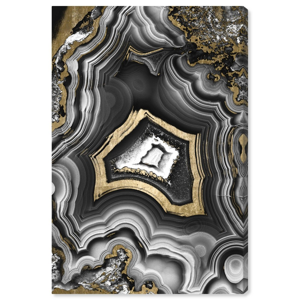 "Image of ""10"""" x 15"""" AdoreGeo Unframed Wall Unframed Wall Canvas Black - Oliver Gal"""