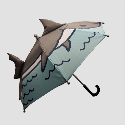 Toddler Boys' Shark Print Stick Umbrella - Cat & Jack™ Gray/Blue