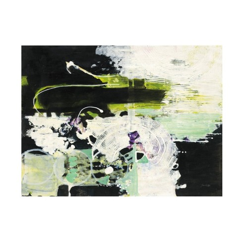 14 X 19 Jan Griggs Green White And Black Unframed Wall Canvas Trademark Fine Art Target