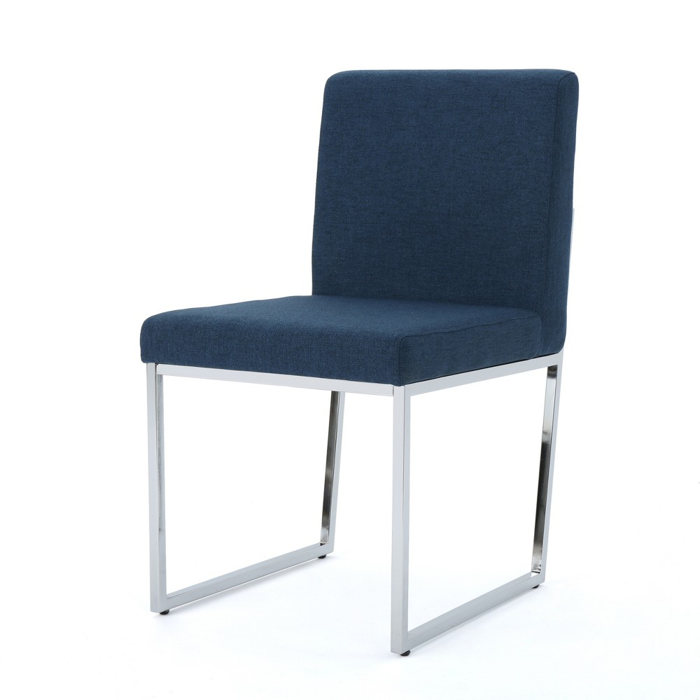 Delma Modern Dining Chair Navy (Blue) - Christopher Knight Home