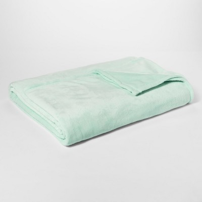 Micromink Blanket (Twin Extra Long)Mint - Room Essentials™
