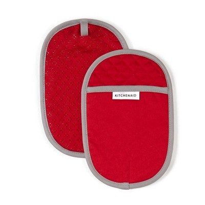KitchenAid 2pk Cotton Asteroid Pot Holders Red