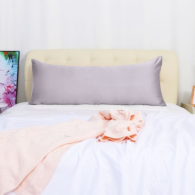 """Body(20""""x54"""") Silky Satin for Hair and Skin Pillow Cases Light Lilac - PiccoCasa"""