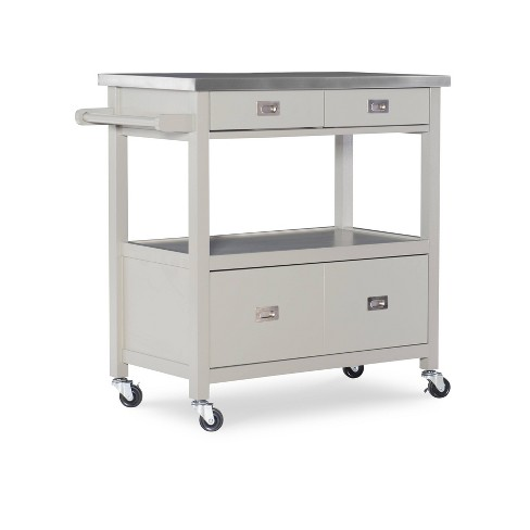 Sydney Kitchen Cart - Gray Wood - Linon - image 1 of 4