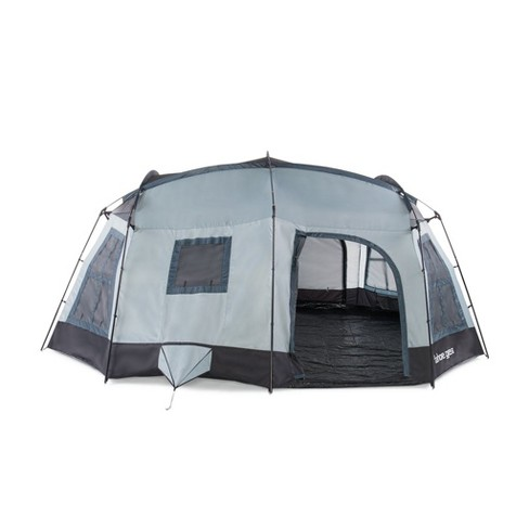 Tahoe Gear Ozark TGT-OZARK-16 16 Person 3 Season Large Family Cabin Tent,  Blue