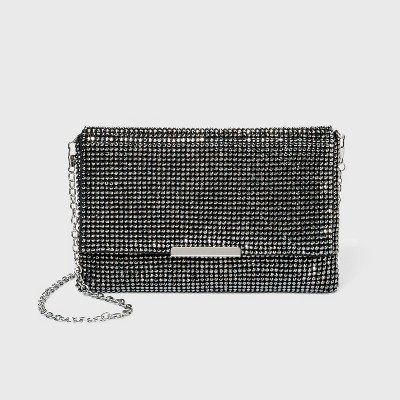 Estee & Lilly Crystal Bead Flap Clutch