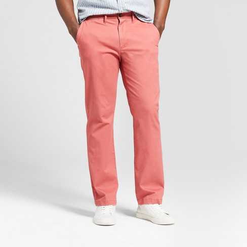 Men's Straight Fit Hennepin Chino Pants - Goodfellow & Co™ Dusty Red - image 1 of 3