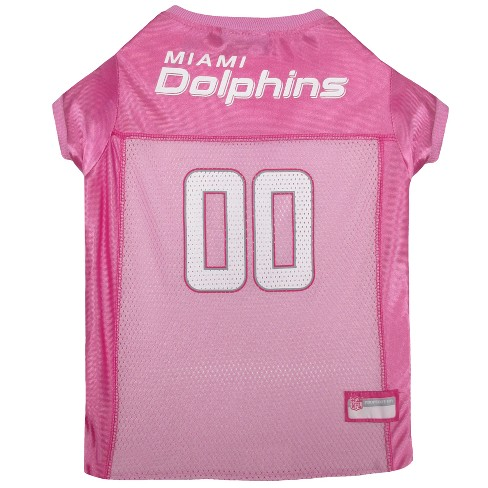 best service a24a2 123c1 NFL Pets First Pink Pet Football Jersey - Miami Dolphins