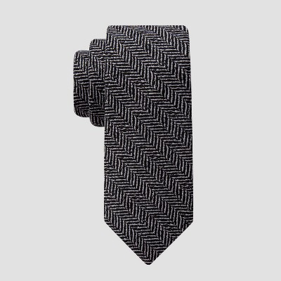 Men's Hazen Herringbone Tie - Goodfellow & Co™ Black