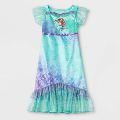 Toddler Girls' The Little Mermaid Ariel Fantasy Nightgown - Green
