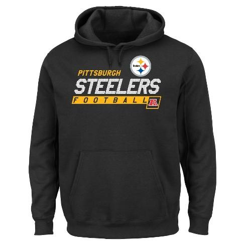 competitive price cbea3 20ae8 Pittsburgh Steelers Men's Big & Tall Team Pride Fleece Pullover Hoodie  Sweatshirt - 4XL