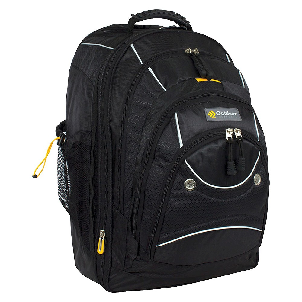 "Image of ""Outdoor Products 21"""" Sea-Tac Rolling Backpack - Black, Size: Large, Black/Blue"""