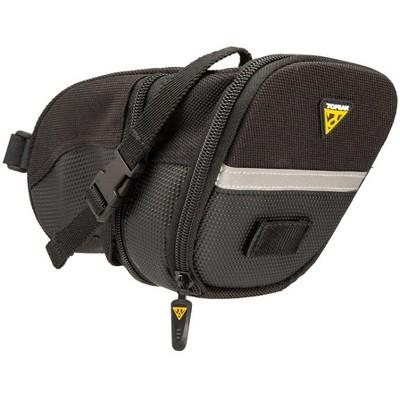 Topeak Aero Wedge Seat Bag: Strap-on, Large, Black