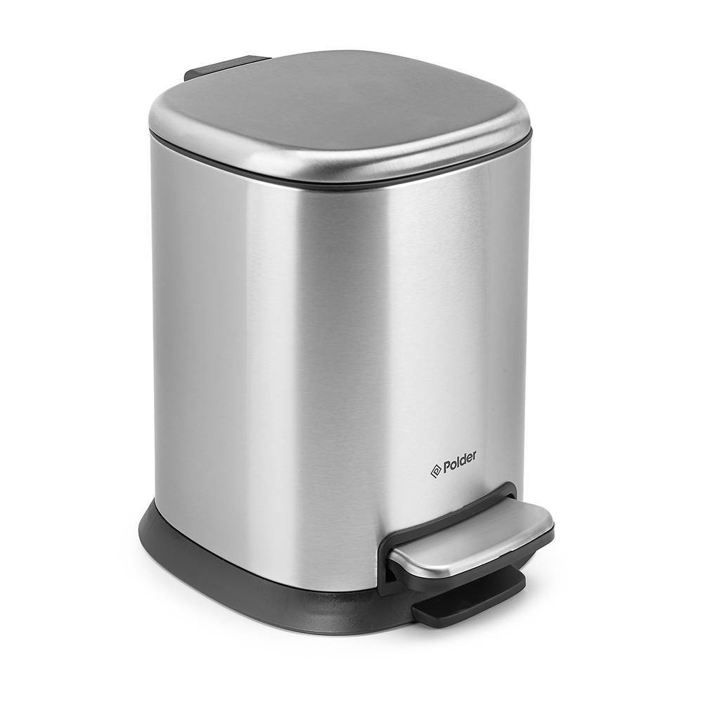 Image of 5L Step Can Stainless Steel - Polder, Silver