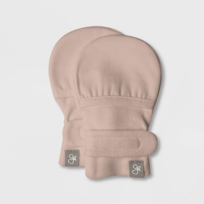 Goumi Baby Girls' Organic Cotton Mittens - Pink 0-3M