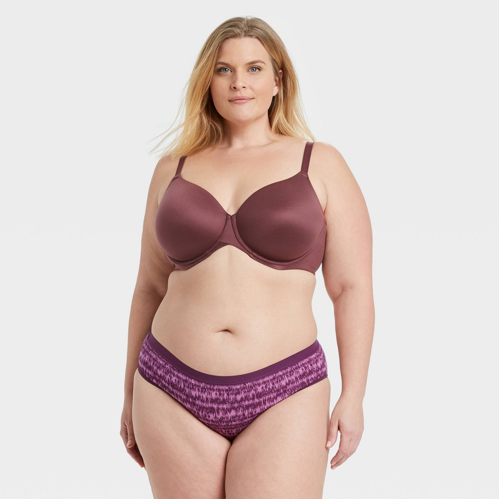 Women 39 S Plus Size Striped Cotton Bikini Underwear Auden 8482 Purple 1x