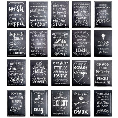 """20-Pack Inspirational Posters, Classroom Posters Inspiring Quotes, Chalkboard Design, Perfect for Student School Classroom Office Decoration, 13x19"""""""