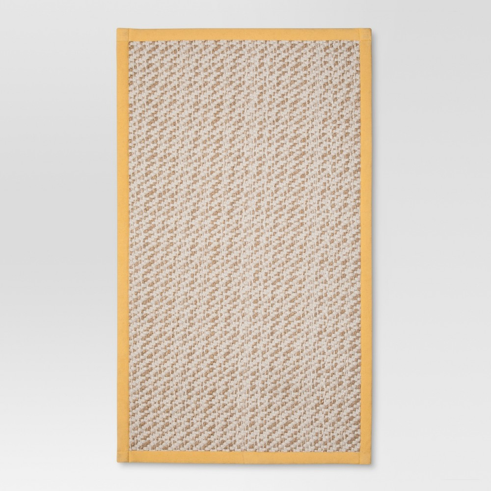 Solid rugs Yellow
