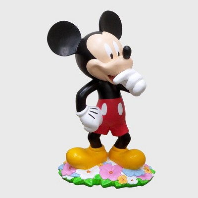 """Disney 18"""" Mickey Mouse With Flowers Resin Statue"""